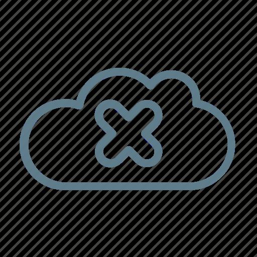 clear, cloud, cloud app, cloud storage, delete, remove, ui cloud icon