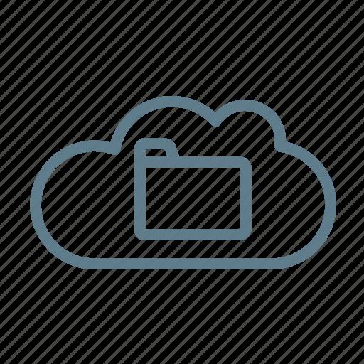 cloud, cloud service, cloud storage, docs, documents, folder, office icon
