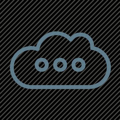 cloud, cloud service, cloud storage, loading, update information icon