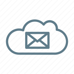 cloud, cloud storage, inbox, letter, mail, message, ui cloud icon