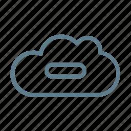 cloud, cloud service, cloud storage, delete cloud, minus, remove, ui cloud icon