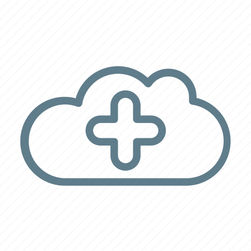 add, cloud, cloud service, cloud storage, include, plus icon