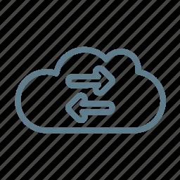 cloud, cloud service, cloud storage, exchange, sync, synchronisation icon