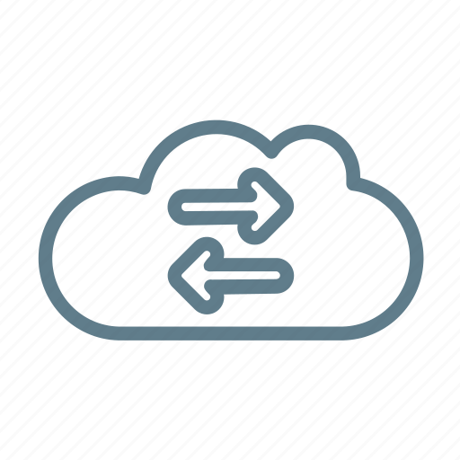 cloud, cloud service, cloud storage, exchange, sync, synchronisation icon