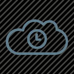cloud, cloud service, cloud storage, cloud waiting, time, wait icon
