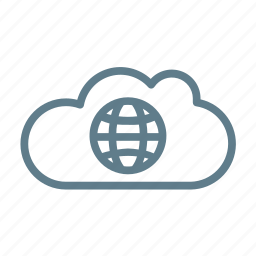 cloud, cloud service, cloud storage, universe, world, worldwide icon