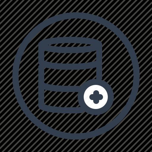 add, cloud, data, server icon
