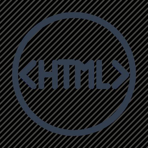 coding, html, label icon