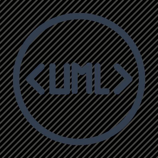 coding, programming language, tag, uml icon