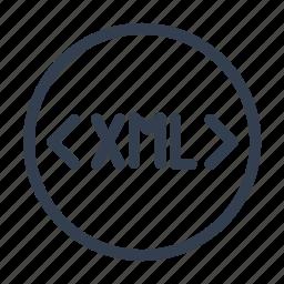 coding, language, programming, tag, xml icon