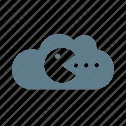 cloud, cloud service, cloud storage, game, game cloud, gaming, online game icon