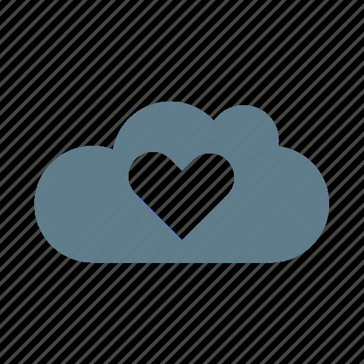 cloud, cloud service, cloud storage, favourite, heart, like cloud, ui cloud icon