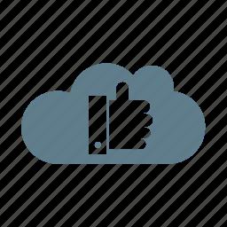 cloud, cloud service, cloud storage, favourite cloud, like, like cloud, ui cloud icon