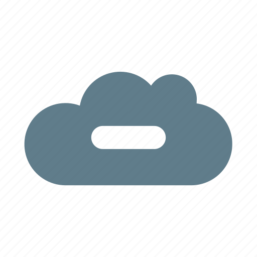 clear, cloud, cloud service, cloud storage, delete cloud, minus, remove icon