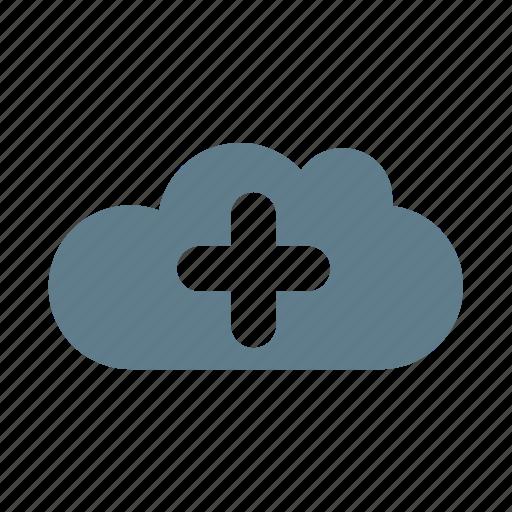 add, add cloud, cloud, cloud service, cloud storage, include, plus icon