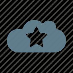 cloud, cloud service, cloud storage, favourite, like cloud, preferance, star icon