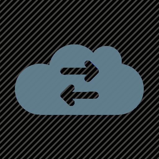 cloud, cloud service, cloud storage, exchange cloud, sync, synchronize, ui cloud icon
