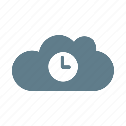 cloud, cloud service, cloud storage, time, timing, waiting cloud icon