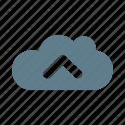 cloud, cloud service, cloud storage, streaming, sync cloud, upload, upload cloud icon