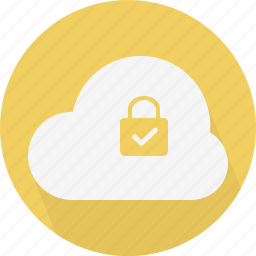 approve, cloud, lock, security, yes icon