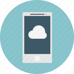 cloud, mobile, smart-phone icon