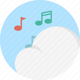 cloud, music, notes icon