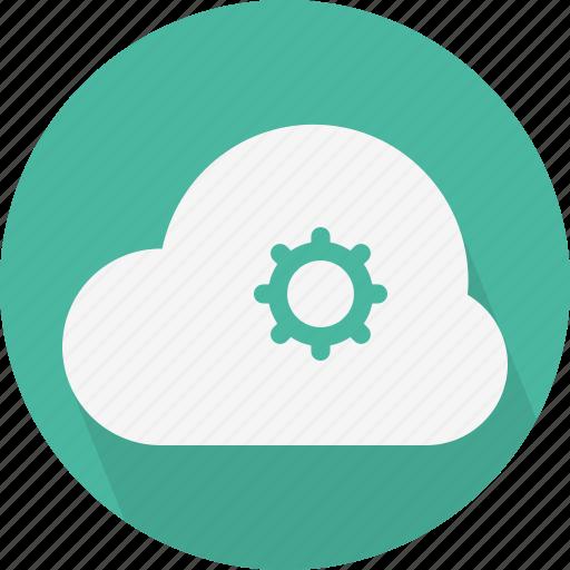 cloud, settings icon