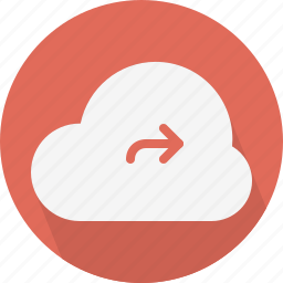 arrow, cloud, share icon