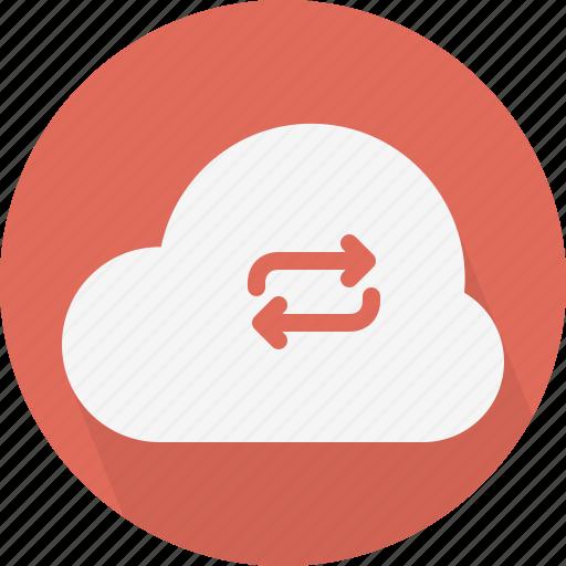 arrows, cloud, sync icon
