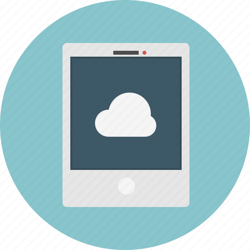 cloud, tablet icon