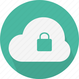 cloud, lock, security icon