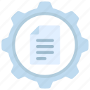 content, management, manage, file, document, cog, gear icon