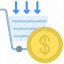 cost, per, sale, cps, money, shopping, cart icon