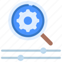 seo, controls, search, engine, optimisation, magnifying, glass icon