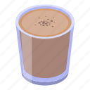 cartoon, christmas, cocoa, cup, heart, isometric, love icon