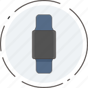 asset, clock, device, electronic watch, phone, watch icon