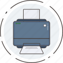 asset, fax, print, printer icon