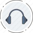 headphones, instrument, multimedia, music, volume icon