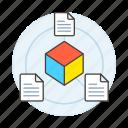 documents, coding, metadata, cube, file, document, plugin, module icon