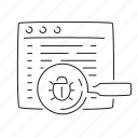 bug, build, optimization, report icon