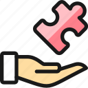 module, hand, puzzle