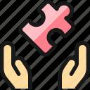 module, hands, puzzle