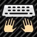 programming, keyboard, type