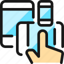 responsive, design, hand