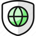 shield, globe
