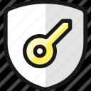 shield, key
