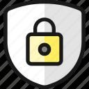 shield, lock