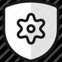 shield, settings
