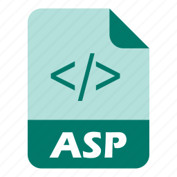 asp, coding, extension, file icon