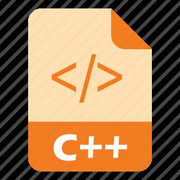 c-plus-plus, coding, extension, file icon